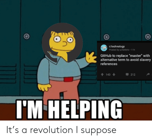 A: It's a revolution I suppose