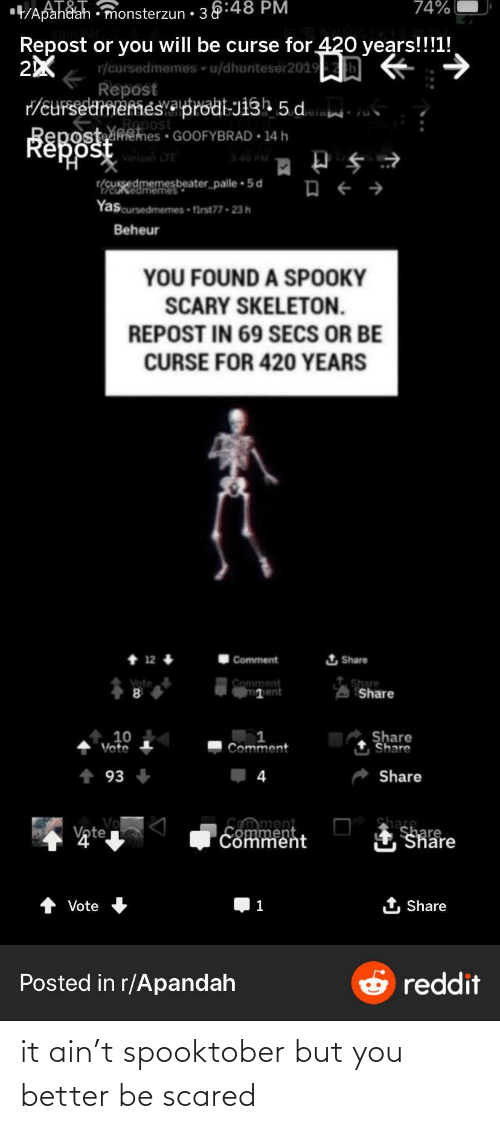 Spooktober: it ain't spooktober but you better be scared