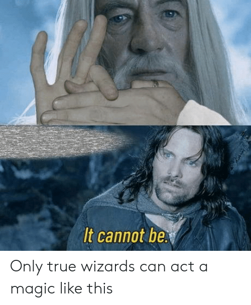 Magic: It cannot be Only true wizards can act a magic like this