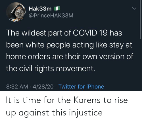 Rise: It is time for the Karens to rise up against this injustice