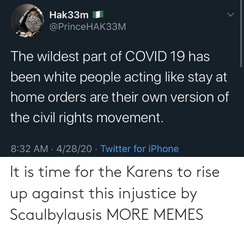 Rise: It is time for the Karens to rise up against this injustice by Scaulbylausis MORE MEMES