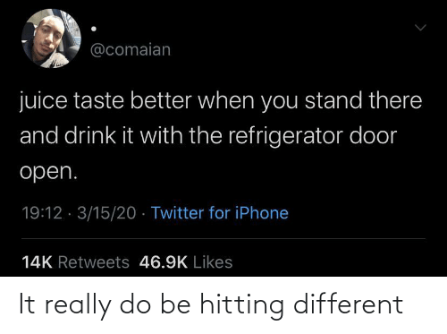 hitting: It really do be hitting different