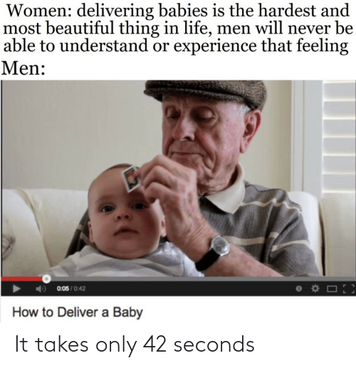 seconds: It takes only 42 seconds