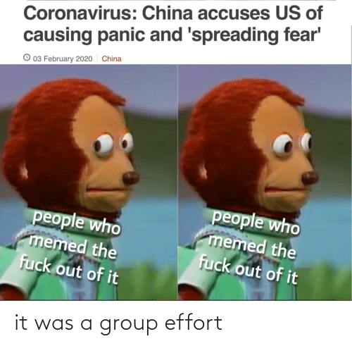 group: it was a group effort
