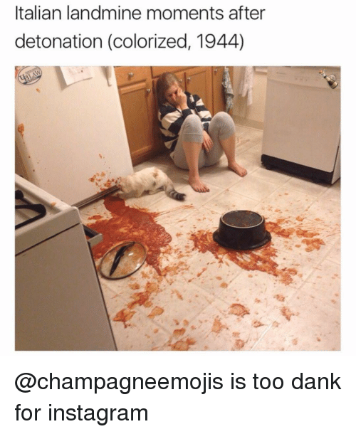 detonation: Italian landmine moments after  detonation (colorized, 1944) @champagneemojis is too dank for instagram