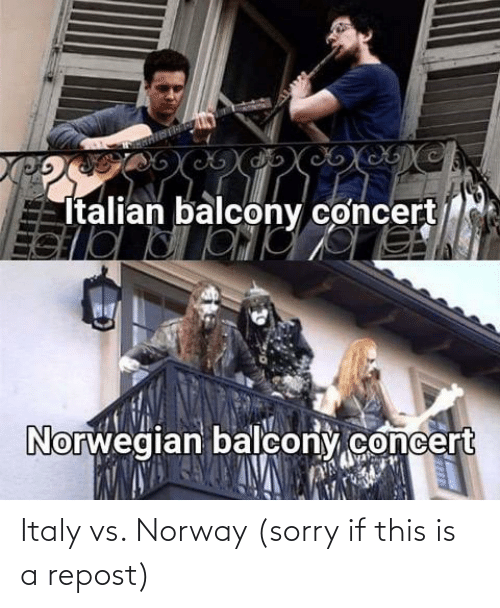 repost: Italy vs. Norway (sorry if this is a repost)