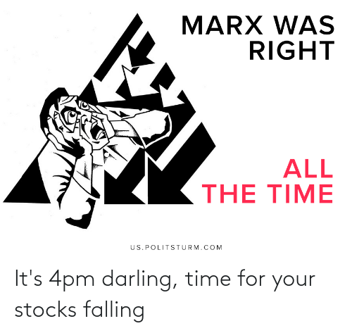 falling: It's 4pm darling, time for your stocks falling