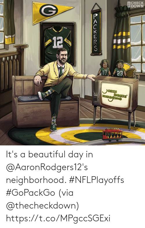 beautiful: It's a beautiful day in @AaronRodgers12's neighborhood. #NFLPlayoffs #GoPackGo  (via @thecheckdown) https://t.co/MPgccSGExi