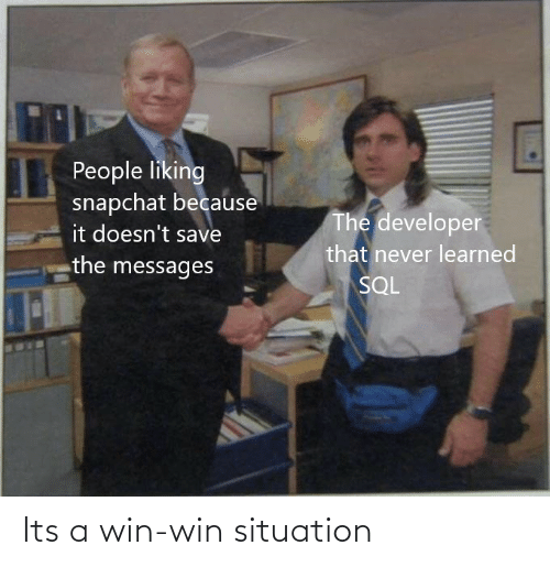 Its: Its a win-win situation