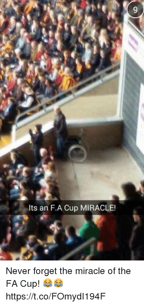 Soccer, Never, and Fa Cup: Its an F.A Cup MIRACLE! Never forget the miracle of the FA Cup! 😂😂 https://t.co/FOmydI194F