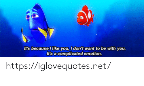 Net, You, and Href: It's because I like you, I don't want to be with you.  It's a complicated emotion. https://iglovequotes.net/