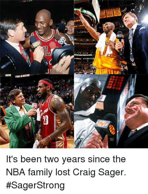 Family, Nba, and Lost: It's been two years since the NBA family lost Craig Sager. #SagerStrong