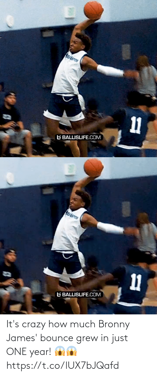 One Year: It's crazy how much Bronny James' bounce grew in just ONE year! 😱😱 https://t.co/lUX7bJQafd