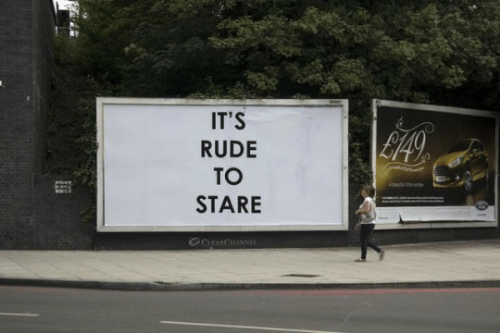 Rude, Stare, and Its: IT'S  | Li49  RUDE  TO  STARE  COBARCHANNEL