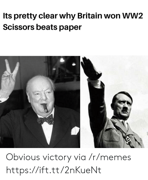 Memes, Beats, and Britain: Its pretty clear why Britain won WW2  Scissors beats paper Obvious victory via /r/memes https://ift.tt/2nKueNt