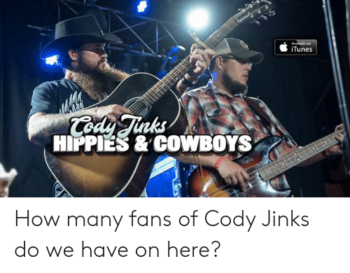 hippies: iTunes  nks  HIPPIES & COWBOYS How many fans of Cody Jinks do we have on here?