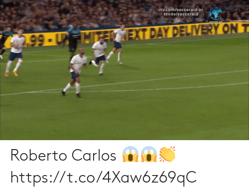 Soccer, Com, and Roberto Carlos: itv.com/socceraid or  stv.tv/socceraid  dopte coendt teus  2.99-UMTECEXT DAY DELIVERY ON T Roberto Carlos 😱😱👏 https://t.co/4Xaw6z69qC