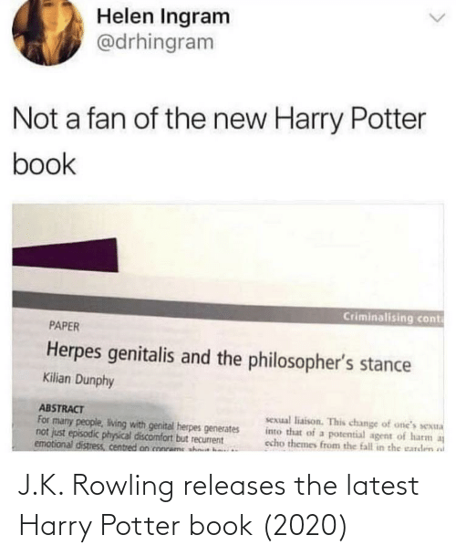 Harry Potter: J.K. Rowling releases the latest Harry Potter book (2020)