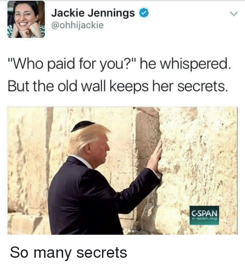 """cspan: Jackie Jennings  @ohhijackie  """"Who paid for you?"""" he whispered  But the old wall keeps her secrets  CSPAN  -opan.org So many secrets"""