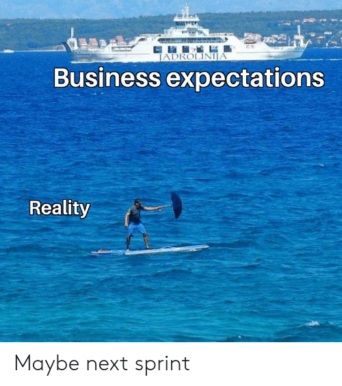 Sprint: JADROLINIJA  Business expectations  Reality Maybe next sprint