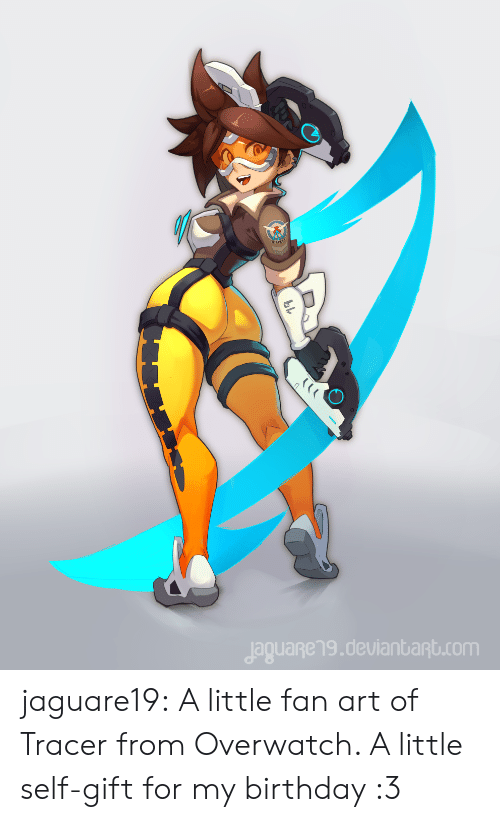 overwatch: jaguageng.deulanbant.com jaguare19:    A little fan art of Tracer from Overwatch. A little self-gift for my birthday :3