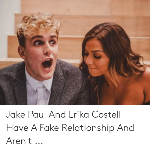 Erika Costell: Jake Paul And Erika Costell Have A Fake Relationship And Aren't ...