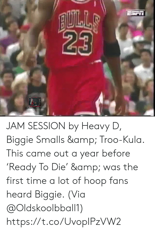 astrologymemes.com: JAM SESSION by Heavy D, Biggie Smalls & Troo-Kula.   This came out a year before 'Ready To Die' & was the first time a lot of hoop fans heard Biggie.   (Via @Oldskoolbball1)    https://t.co/UvopIPzVW2