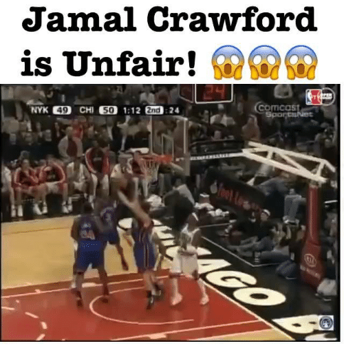 Memes, Comcast, and 🤖: Jamal Crawford  is Unfair!  Comcast  NYK 49  CHI  50 1:12  2nd 24