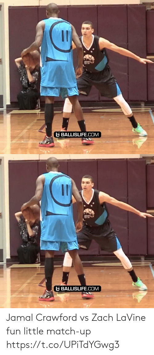 Match: Jamal Crawford vs Zach LaVine fun little match-up https://t.co/UPiTdYGwg3