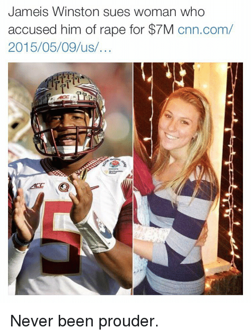 jameis winston: Jameis Winston sues woman who  accused him of rape for $7M  cnn.com/  2015/05/09 us Never been prouder.
