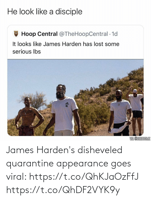 james: James Harden's disheveled quarantine appearance goes viral: https://t.co/QhKJaOzFfJ https://t.co/QhDF2VYK9y