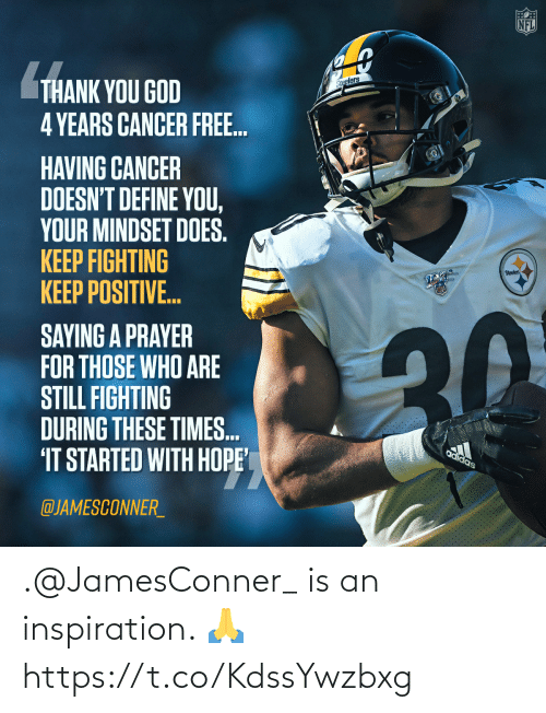 Inspiration: .@JamesConner_ is an inspiration. 🙏 https://t.co/KdssYwzbxg