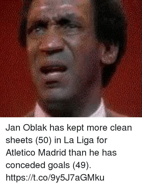 Atletico Madrid: Jan Oblak has kept more clean sheets (50) in La Liga for Atletico Madrid than he has conceded goals (49). https://t.co/9y5J7aGMku