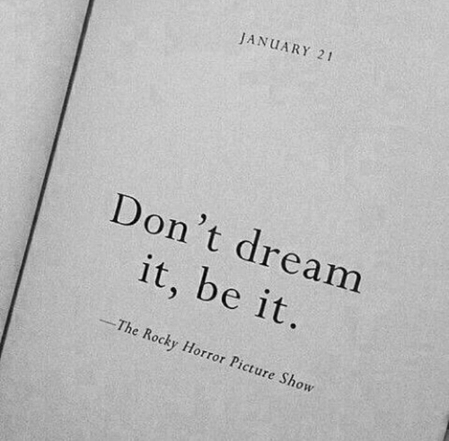 """Rocky, Rocky Horror Picture Show, and Horror: JANUARY 21  Don't dream  it, be it  The Rocky Horror Picture Show  """"-"""""""