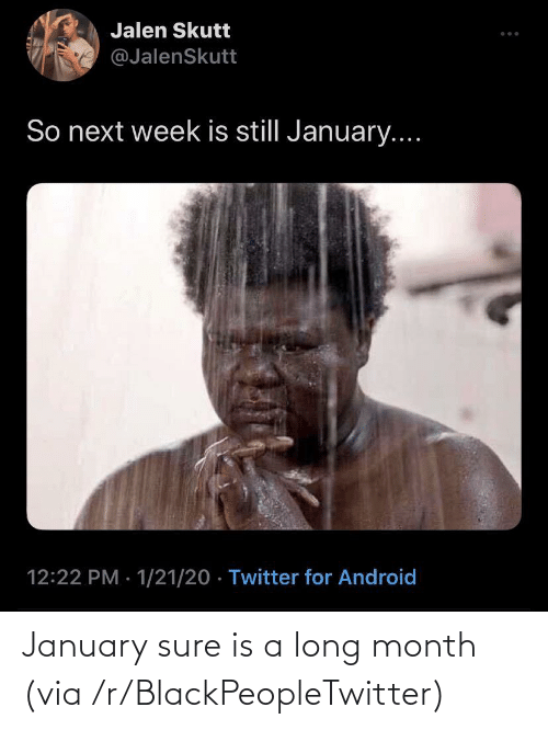 january: January sure is a long month (via /r/BlackPeopleTwitter)