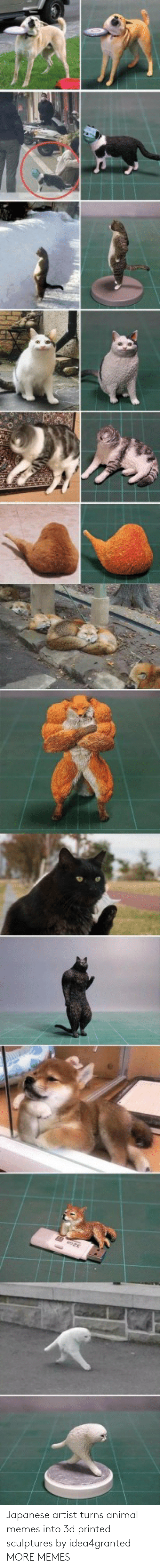 Japanese: Japanese artist turns animal memes into 3d printed sculptures by idea4granted MORE MEMES