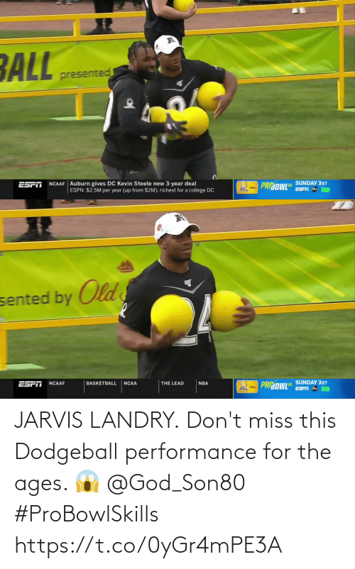 Ages: JARVIS LANDRY.  Don't miss this Dodgeball performance for the ages. 😱 @God_Son80  #ProBowlSkills https://t.co/0yGr4mPE3A