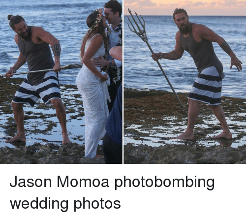 Jason Momoa: Jason Momoa photobombing wedding photos
