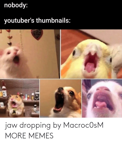 Dropping: jaw dropping by Macroc0sM MORE MEMES
