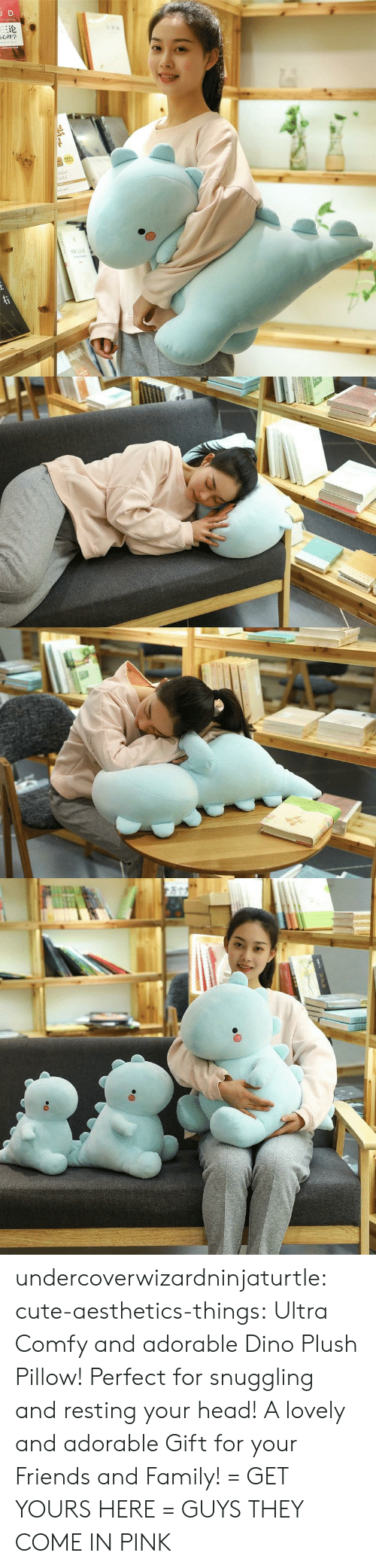 dino: JD  三论  laint  orld  TNAR  ww.e undercoverwizardninjaturtle: cute-aesthetics-things:   Ultra Comfy and adorable Dino Plush Pillow! Perfect for snuggling and resting your head! A lovely and adorable Gift for your Friends and Family! = GET YOURS HERE =   GUYS THEY COME IN PINK