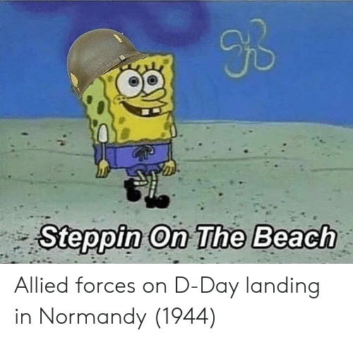 d-day: JD  Steppin On The Beach Allied forces on D-Day landing in Normandy (1944)