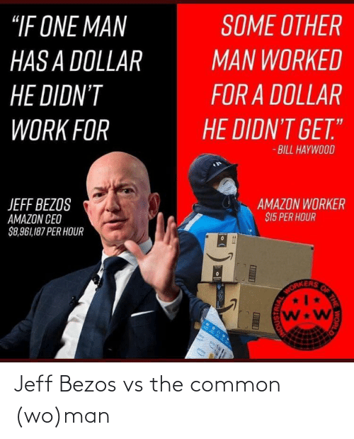 Jeff Bezos: Jeff Bezos vs the common (wo)man