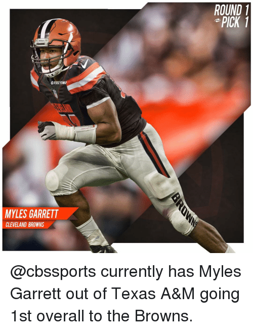 WAP MYLES GARRETT CLEVELAND BROWNS ROUND 1 PICK Currently