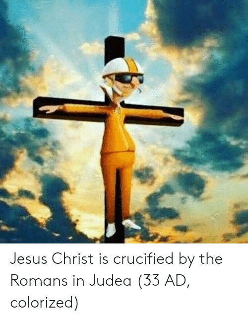 Crucified: Jesus Christ is crucified by the Romans in Judea (33 AD, colorized)