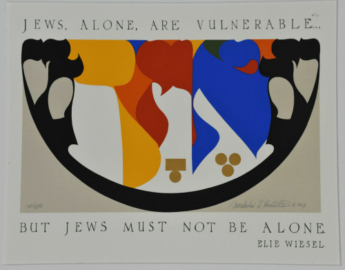 Vulnerable: JEWS, ALONE, ARE  VULNERABLE..  Ounbubai &. fometinenz  ST  NOT BE  ALONE  BUT  JEWS  ELIE WIESEL