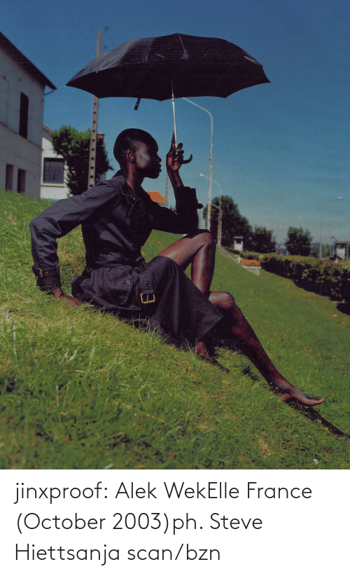 october: jinxproof: Alek WekElle France (October 2003)ph. Steve Hiettsanja scan/bzn