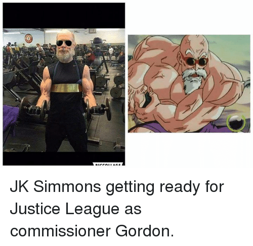 J.K. Simmons: JK Simmons getting ready for Justice League as commissioner Gordon.