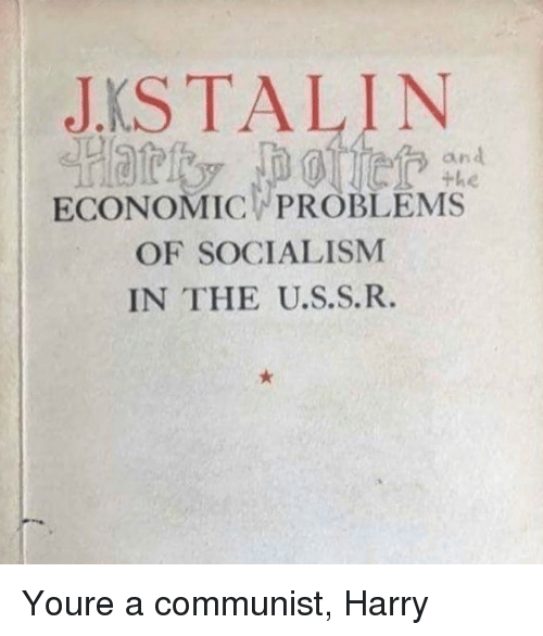 Socialism, Communist, and A Communist: JKSTALIN  an  ECONOMIC PROBLEMS  OF SOCIALISM  IN THE U.S.S.R. Youre a communist, Harry
