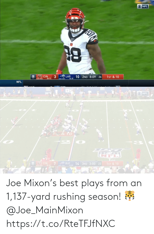 joe: Joe Mixon's best plays from an 1,137-yard rushing season! 🐯@Joe_MainMixon https://t.co/RteTFJfNXC