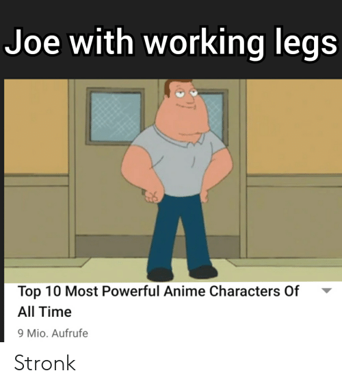 Most Powerful Anime Characters: Joe with working legs  Top 10 Most Powerful Anime Characters Of  All Time  9 Mio. Aufrufe Stronk